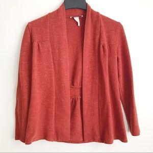🛍 2/$10 🛍 Cardigan Orange Red Long Sleeve